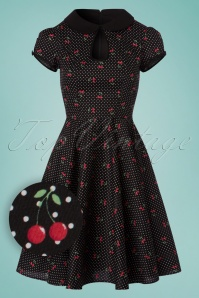 Bunny Sophie Cherries Black Swing Dress 102 14 24055 20180305 0009W1
