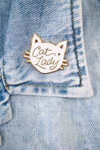 Little Arrow cat lady white pin 340 59 24741 02