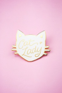 Little Arrow cat lady white pin 340 59 24741 01