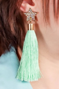 Little Arrow tassel earrings mint stars 333 40 24745 02