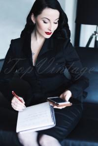 Vintage Diva Black Peplum Jacket 153 10 24326 20180126 0016W
