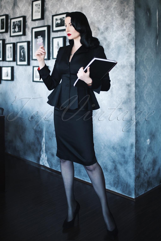 1950s Swing Skirt, Poodle Skirt, Pencil Skirts The Divine Pencil Skirt in Black £72.74 AT vintagedancer.com
