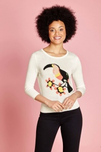 Yumi Toucan Jumper in Invory 113 50 22937 3