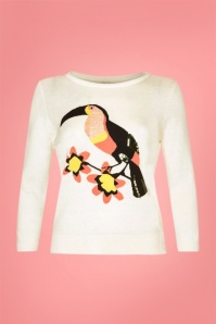 Yumi Toucan Jumper in Invory 113 50 22937 1W