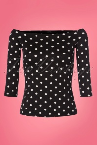 Dolly and Dotty Gloria Bardot Polkadot Off Shoulder Top 111 14 24221 20180305 0002W