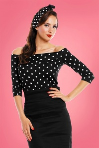 Dolly and Dotty Gloria Bardot Polkadot Off Shoulder Top 111 14 24221 20180305 1