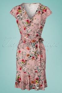 Yumi Frill Hem Jersey Floral Dress 100 29 22933 20180306 0003W