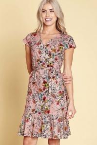 Yumi Frill Hem Jersey Floral Dress 100 29 22933 20180306 01
