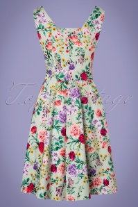 Dolly and Dotty Natalie Green Floral Swing Dress 102 49 24230 20180307 0009W