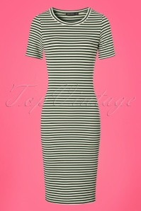 Mikarose Olive Striped Belle Pencil Dress 24958 20180306 0001w