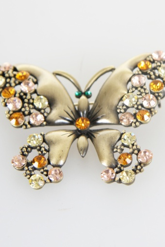 butterfly brooch bronze big
