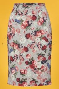 Mikarose Light Blue Floral Skirt 120 39 24960 20180306 0002w