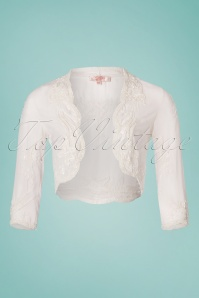 20s Mary Beaded Bolero in Ivory White