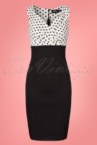 Dolly and Dotty Cheryl Black Polkadot Pencil Dress 100 59 24222 20180307 0002W