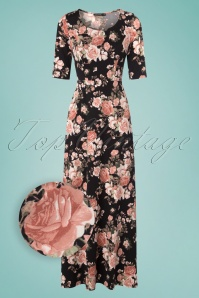 Mikarose The Michelle Black Floral Maxi Dress 108 14 24961 20180306 0002wv