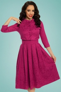 Lindy Bop Marianne Pink Swing Dress 25406 20171019 01
