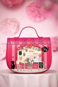 50s Vintage Biscuit Shop Saddle Bag in Pink