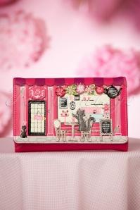 Vintage Biscuit Shop Wallet Années 50 en Rose