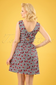 Smashed Lemon White Striped Cherry Dress 106 59 23500 20180307 02W