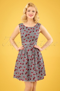 Smashed Lemon White Striped Cherry Dress 106 59 23500 20180307 01W