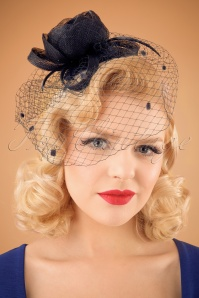 50s Felicia Fascinator in Navy