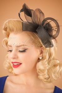 50s Victoria Fascinator in Black