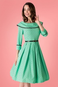 Tatyana Mint Green Polkadot Swing Dress 102 49 25399 20180308 2