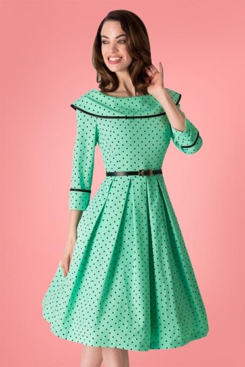 Tatyana Mint Green Polkadot Swing Dress 102 49 25399 20180308 2
