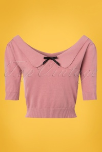 Collectif Clothing Babette Jumper in Pink 22547 20171122 0005W