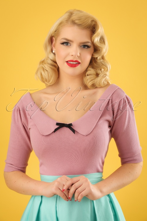 Collectif Clothing Babette Jumper in Pink 22547 20171122 01W