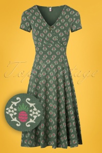 Blutsgeschwister O ahula Aloha Dress in Green 102 49 23466 20180305 0003W1