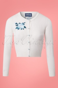 Collectif Clothing Jessie Rose Embroidery Cardigan in White 22541 20171122 0006W