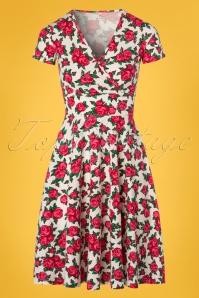 Blutsgeschwister O'ahula Aloha Dress Roses Print 102 59 23465 20180305 0002W