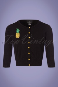 Collectif Clothing Lucy Pineapple Cardigan in Black 23616 20171122 0003W
