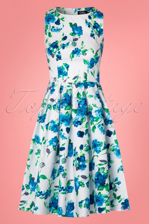a342b3c4e5 Dolly and Dotty Annie Swing Dress White Blue Flowers 102 59 24226 20180305  0005W