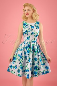 Dolly and Dotty Annie Swing Dress White Blue Flowers 102 59 24226 20180305 01W