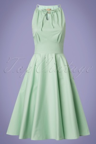 Lindy Bop Julianna Pastel Green Swing Dress 24569 20180103 0018W