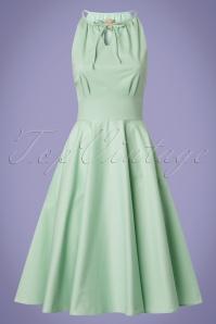 Lindy Bop Julianna Pastel Green Swing Dress 24569 20180103 0018W