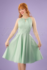Lindy Bop Julianna Pastel Green Swing Dress 24569 20180103 01W