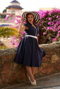 Miss Candyfloss Navy White Dress 102 31 24181 20180308 q