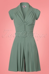40s Sheila Pantskirt Playsuit in Mint Green