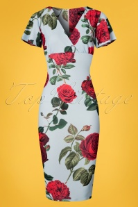 Vintage Chic Scuba Crepe Roses Pencil Dress 100 39 24479 20180302 0001W