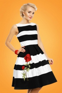 Dolly and Dotty Annie Swing Dress Rose Black and White 102 14 24223 20180305 1
