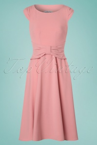50s Angelina Rose Swing Dress in Blush