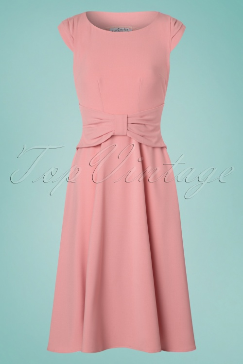 Miss Candyfloss Blush Bow Swing Dress 102 22 24176 20180308 0003w