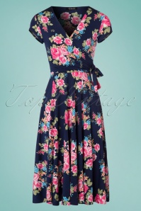 Vintage Chic Layla Roses Floral Dress 102 39 24534 20180302 0001W