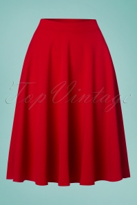 Vintage Chic 50s Sheila Swing Skirt in Red 122 20 24916 20180305 0003W