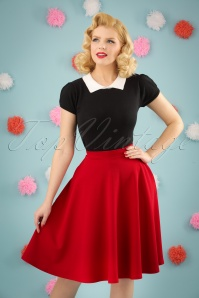 Vintage Chic 50s Sheila Swing Skirt in Red 122 20 24916 20180305 01W