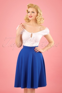 50s Sheila Swing Skirt in Royal Blue