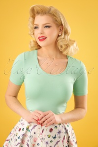 50s Praal T-Shirt in Mint Green